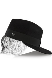 + Karl Lagerfeld Karlie lace and rabbit-felt hat