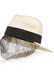 + Karl Lagerfeld Karlie lace and straw hat