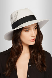 Virginie printed rabbit-felt fedora