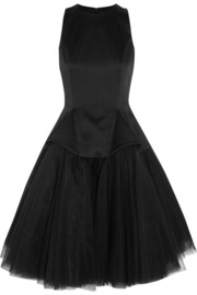 Satin and tulle dress