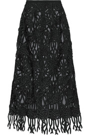 Rope-effect lace skirt