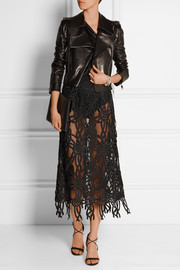 Christopher Kane Rope-effect lace skirt