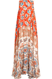Infini printed silk-chiffon maxi dress