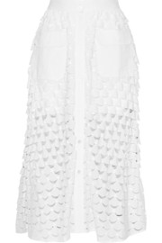 Paul & Joe Eolienne broderie anglaise cotton midi skirt
