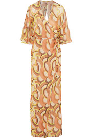 Nihal printed silk-chiffon maxi dress