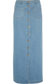 Alcove stretch-denim maxi skirt
