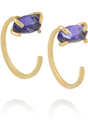 14-karat gold tanzanite earrings