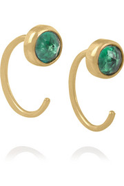 Melissa Joy Manning 14-karat gold topaz earrings