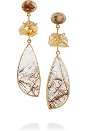Melissa Joy Manning 14-karat gold multi-stone earrings
