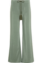 Alcestes silk wide-leg pants