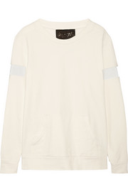 Norma Kamali Stretch cotton-terry sweatshirt