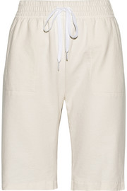 Stretch cotton-terry shorts