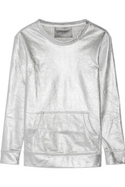 Metallic cotton-blend sweatshirt