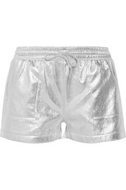 Metallic cotton-blend shorts