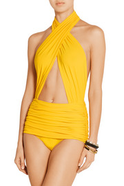 Norma Kamali Mio ruched swimsuit