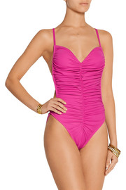 Norma Kamali Butterfly Mio ruched swimsuit