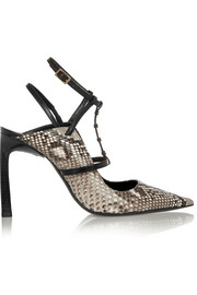 Lanvin Python and leather pumps