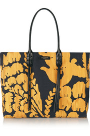 Lanvin Leather-trimmed printed canvas tote