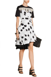 Polka-dot stretch-cotton poplin mini dress