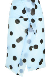 Misty polka-dot PU skirt