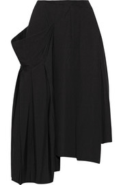 Marc by Marc Jacobs Pleated asymmetric stretch-cotton midi skirt