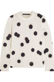 Blurred Dot knitted sweatshirt