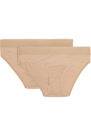 Bell set of two stretch-bamboo briefs