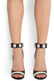 Givenchy Shark Lock sandals in striped leather