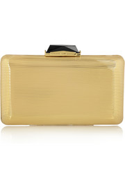 Espey gold-tone box clutch