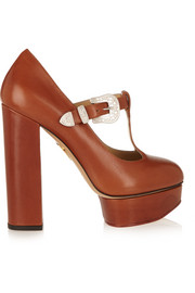 Ryder leather Mary Jane platform pumps