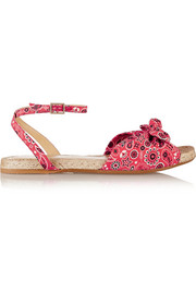 Marina printed canvas sandals