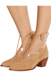 Eastwood suede and PVC ankle boots