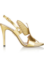 High Spirits metallic leather sandals