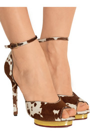 Savannah printed calf hair sandals