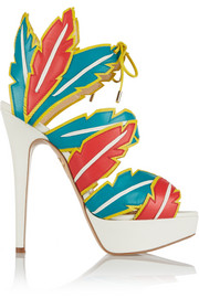 Charlotte Olympia Leather platform sandals