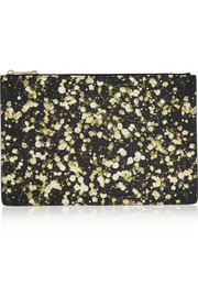 Givenchy Floral pouch in printed coated canvas