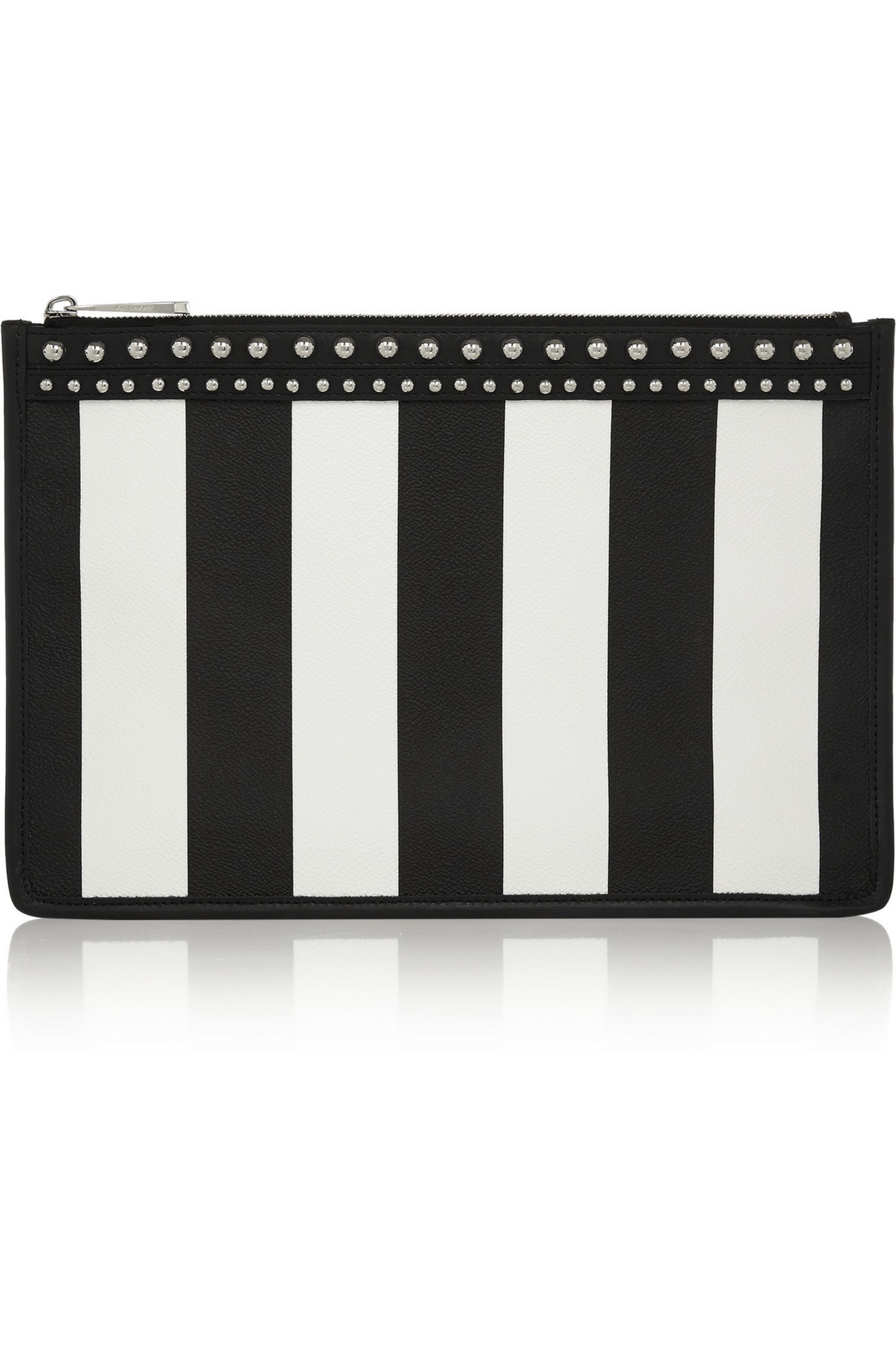 Givenchy Zipped pouch in striped coated canvas