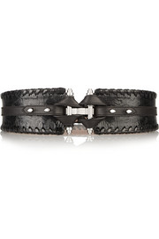Obsedia belt in black leather