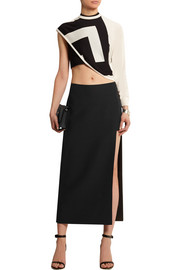 Versace Cutout silk-cady skirt