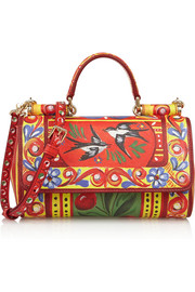 Dolce & Gabbana Mini painted textured-leather shoulder bag