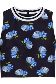 Morley cropped floral-print cotton-blend twill top