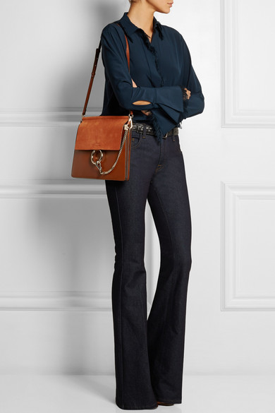how to tell a fake chloe bag - Chlo�� | Faye medium suede and leather shoulder bag | NET-A-PORTER.COM