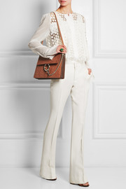 Chloé Faye medium croc-effect leather shoulder bag