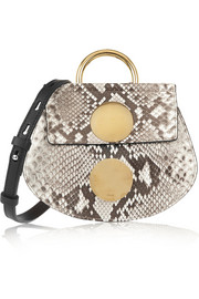 Faye mini python and leather shoulder bag