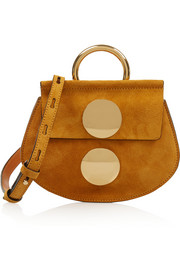 Faye mini suede shoulder bag