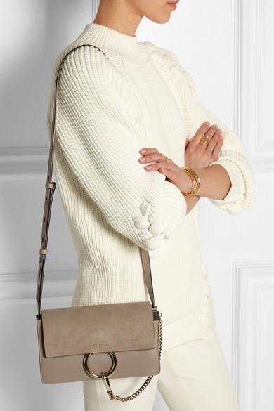 chloe brand handbags - Chlo�� | Faye small leather and suede shoulder bag | NET-A-PORTER.COM