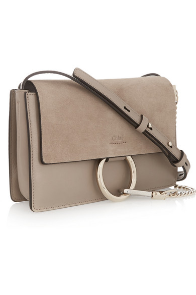 chloe bags replica - Chlo�� | Faye small leather and suede shoulder bag | NET-A-PORTER.COM