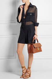 Chloé Fedora small croc-effect leather shoulder bag