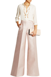 Antonio Berardi Scuba-satin wide-leg pants