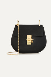 Drew small textured-leather shoulder bag